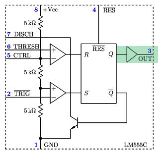 NE555 - blok 4 - bufor wyjściowy