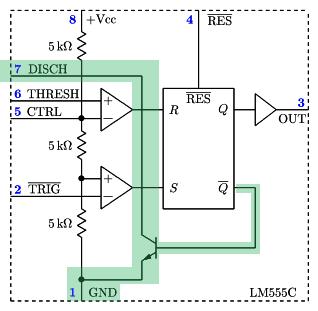 NE555 - blok 5 - tranzystor.