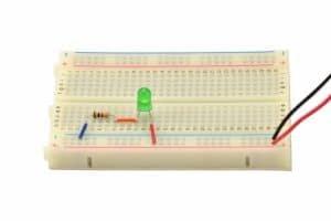 Druga wersja układu: rezystor + dioda.
