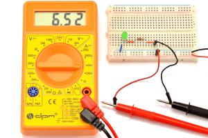 Pomiar przy wersji dioda + rezystor.