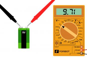 """Pomiar baterii z """"poprawnym"""" podłączeniem sond"""